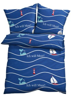 Dekbedovertrek met maritieme print, bpc living bonprix collection