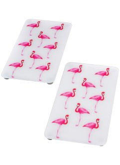 Fornuisafdekplaten «Flamingo» (2-dlg. set), bpc living