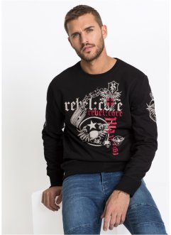 Sweater met print, slim fit, RAINBOW