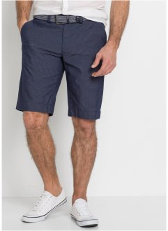 Seersucker chino bermuda met riem, regular fit, bpc selection