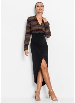 High-low jurk in wikkellook, BODYFLIRT boutique