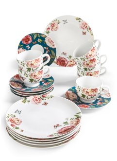 Koffieservies «Roses» (18-dlg.), bpc living bonprix collection
