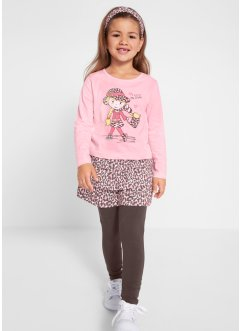 Shirt, rok, legging, haarlint (4-dlg. set), bpc bonprix collection