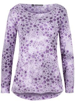 Longsleeve met sterrenprint en borstzakje, bpc bonprix collection