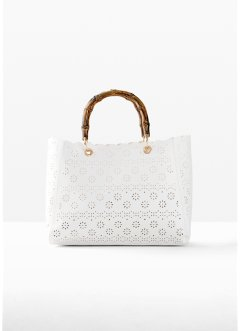 Handtas met lasercut patroon, bpc bonprix collection