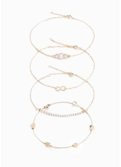 Armbanden met Swarovski® kristallen (4-dlg. set), bpc bonprix collection