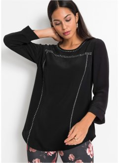 Blouse met applicaties, BODYFLIRT