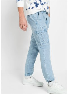 Regular fit cargo jeans, straight, RAINBOW
