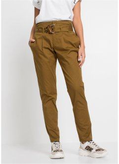 High-waist chino met ceintuur, RAINBOW