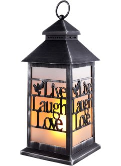 LED lantaarn met tekstprint Live, Laugh, Love, bpc living bonprix collection