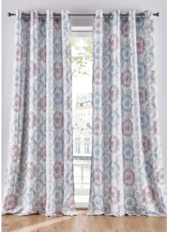 Microvezel gordijn met grafische print (1 stuk), bpc living bonprix collection