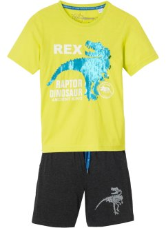T-shirt met omkeerbare pailletten en short (2-dlg. set), bpc bonprix collection