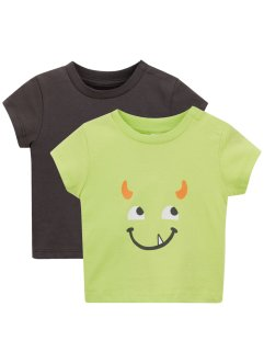 Baby T-shirt (set van 2) biologisch katoen, bpc bonprix collection