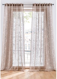 Halftransparant gordijn met glanzende print (1 stuk), bpc living bonprix collection