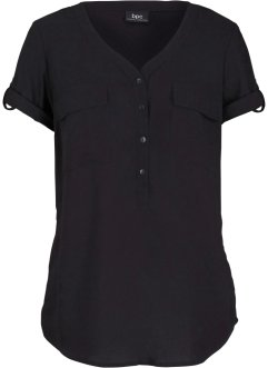 Viscose blouse met korte mouwen, bpc bonprix collection