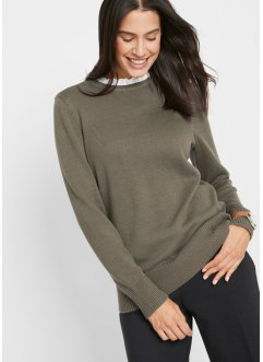 Trui met blouse-inzet, bpc bonprix collection