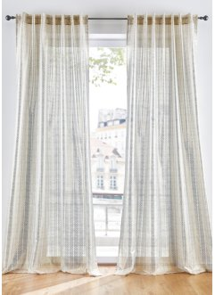Halftransparant gordijn met folieprint (1 stuk), bpc living bonprix collection