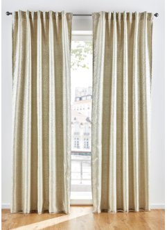 Jacquard gordijn met glans (1 stuk), bpc living bonprix collection