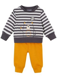 Babyshirt en sweatpants (2-dlg. set), biologisch katoen, bpc bonprix collection