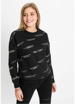 Sweater met tekstprint, RAINBOW
