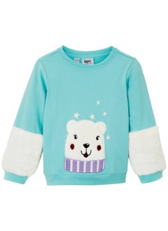 Sweater met fleece details, bpc bonprix collection