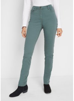 Gekleurde 5-pocket-broek met comfortband, straight fit, bpc bonprix collection