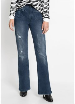 Flared jeans met gerecycled polyester, RAINBOW
