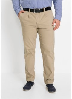 Regular fit stretch broek met scherpe vouw, straight, bpc selection