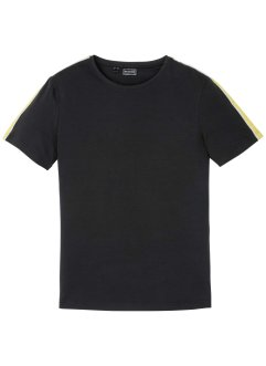 Stretch T-shirt met tapes, slim fit, RAINBOW