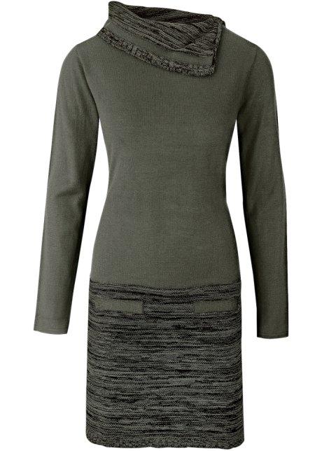 tricot jurk lange mouw