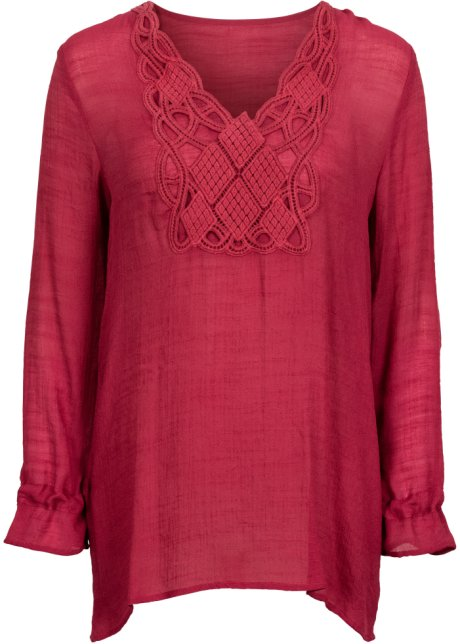 donkerrode dames blouse