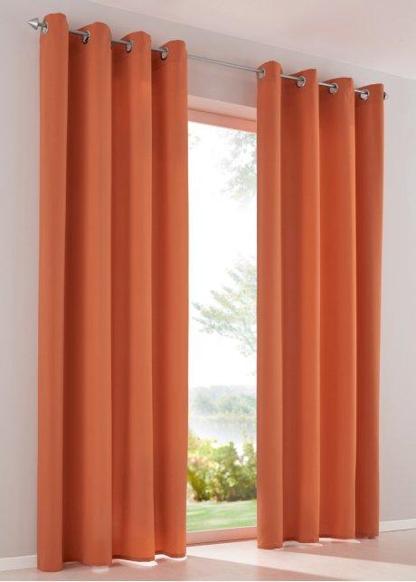 Gordijn «Effen microvezel» (set van 2) oranje - bpc living bestel ...