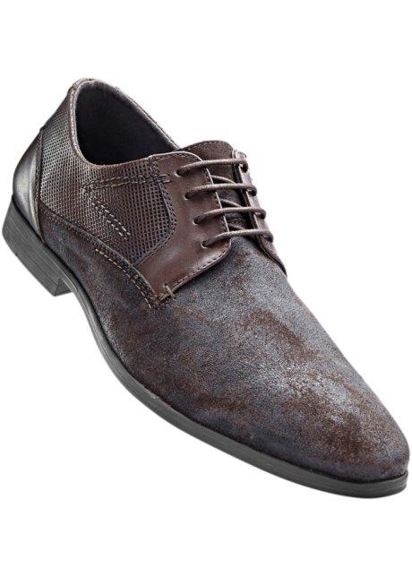 Chaussures À Lacets Hommes En Noir - Sélection Bpc 6f5kELa