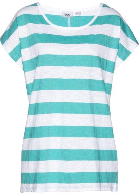 3182822edefcc9 Bigshirt Pacifisch groen wit gestreept - Dames - bpc bonprix ...