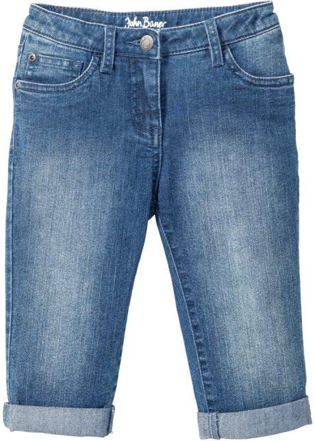 Capri jeans met omslag