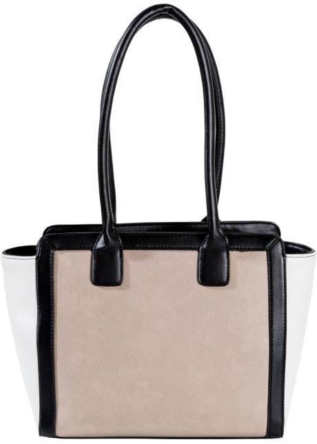 b7a76fa28aa Verenigt functie en design: de 3-kleurige handtas - zwart/wit/nude