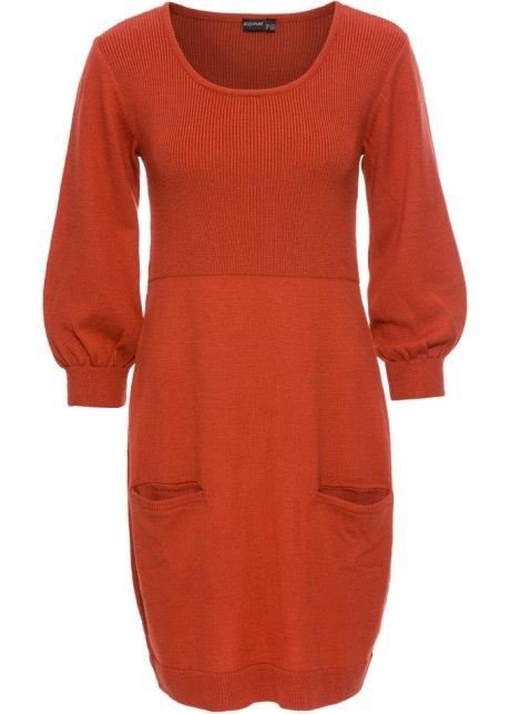 f07f3c004db625 Gebreide jurk karmijnrood - BODYFLIRT bestel online - bonprix.nl