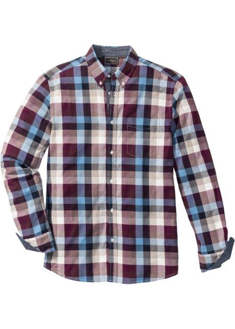Bordeaux Overhemd.Overhemd Bordeaux Blauw Creme Geruit Bpc Selection Koop Online