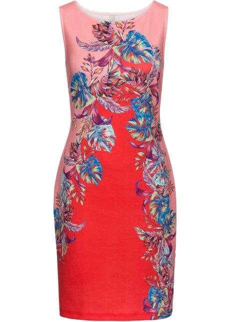6e900289d99114 Jurk rood pink blauw gebloemd - Dames - BODYFLIRT boutique - bonprix.nl