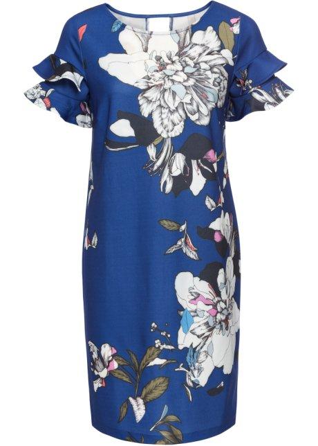 7e638a0f5ddfa0 Jurk blauw gebloemd - Dames - BODYFLIRT boutique - bonprix.nl