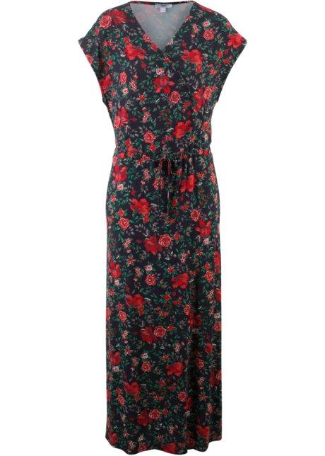 9ae1ef42dd2ac0 Maxi-jurk donkerblauw gebloemd - bpc bonprix collection - bonprix.nl