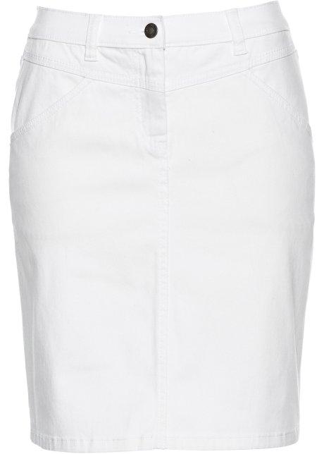 jeansrok wit