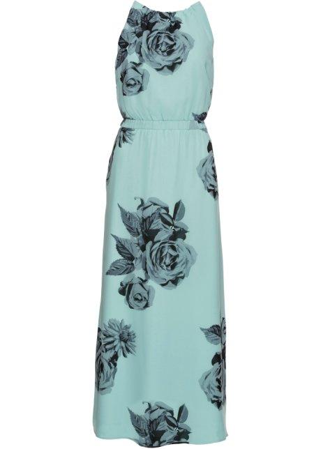 38762697968bce Schitterende maxi-jurk met betoverend mooie allover-print - aqua ...