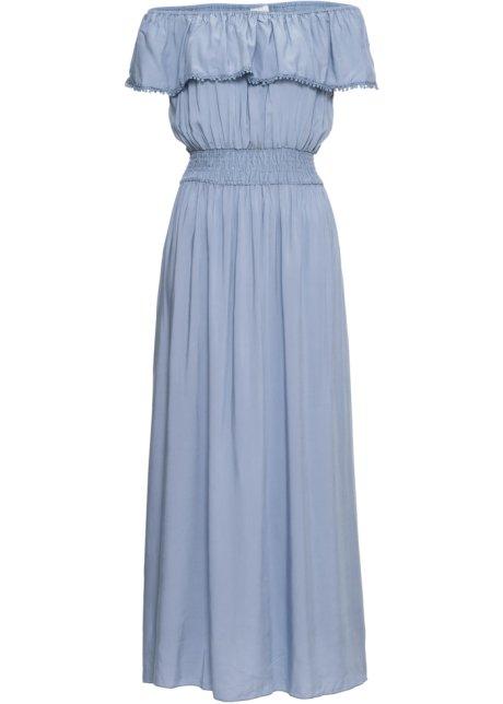 lichtblauwe maxi jurk
