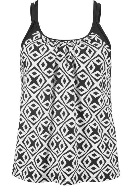 5641f48efa104 Tankinitop zwart wit gedessineerd - bpc bonprix collection koop ...