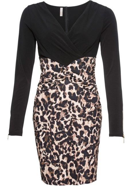 b35db493b34eef Jurk zwart luipaardprint - Dames - BODYFLIRT boutique - bonprix.nl