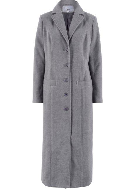 Lange jas van een wolmix