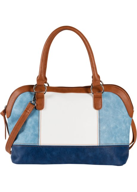 2e666c68173 Handtas lichtblauw/bruin/wit - Dames - bpc bonprix collection ...