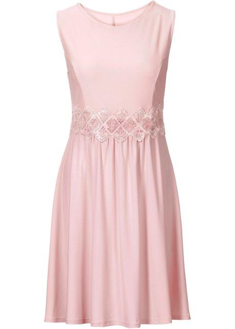 Verwonderlijk Jersey jurk met kant vintage roze - BODYFLIRT bestel online DK-45