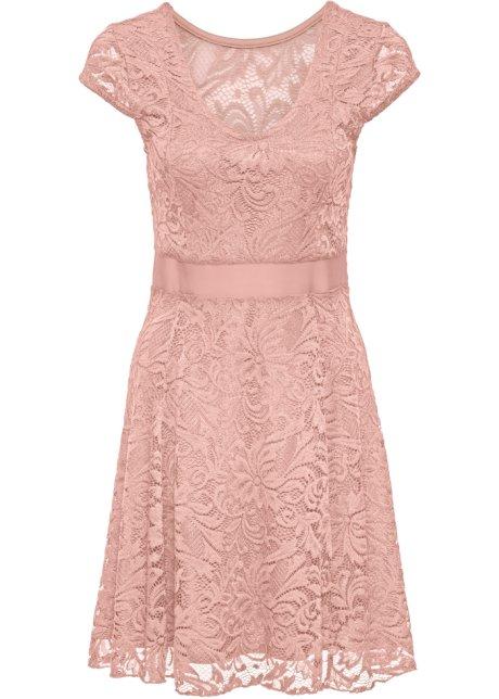 Hedendaags Jersey jurk met kant vintage roze - BODYFLIRT koop online - bonprix.nl WS-99